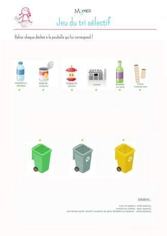 Les 25 meilleures id es concernant tri d chets sur - Activite manuelle recyclage ...