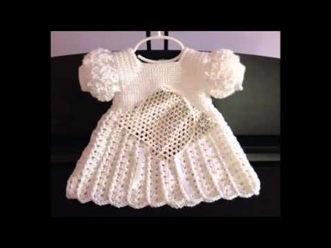 vestido bebe em crochê - pap e medidas em nosso blog - YouTube