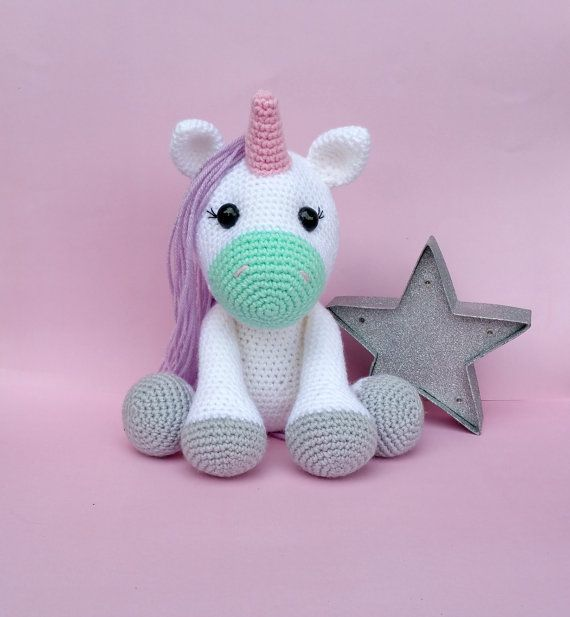 Knitting Patterns For Unicorns : Best 25+ Crochet unicorn ideas on Pinterest Amigurumi, Easy crochet animals...