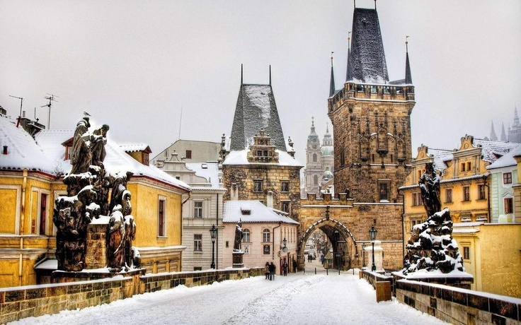 Prague: Winter Snow, Buckets Lists, Czechrepubl, Favorite Places, Charles Bridges, Winter Wonderland, Beautiful Places, Prague Czech Republic, Travel
