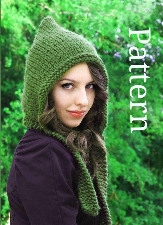 Pixie Hat Pattern  Pixie Hood Pattern  Knit Hat by CreatiKnit, $5.50