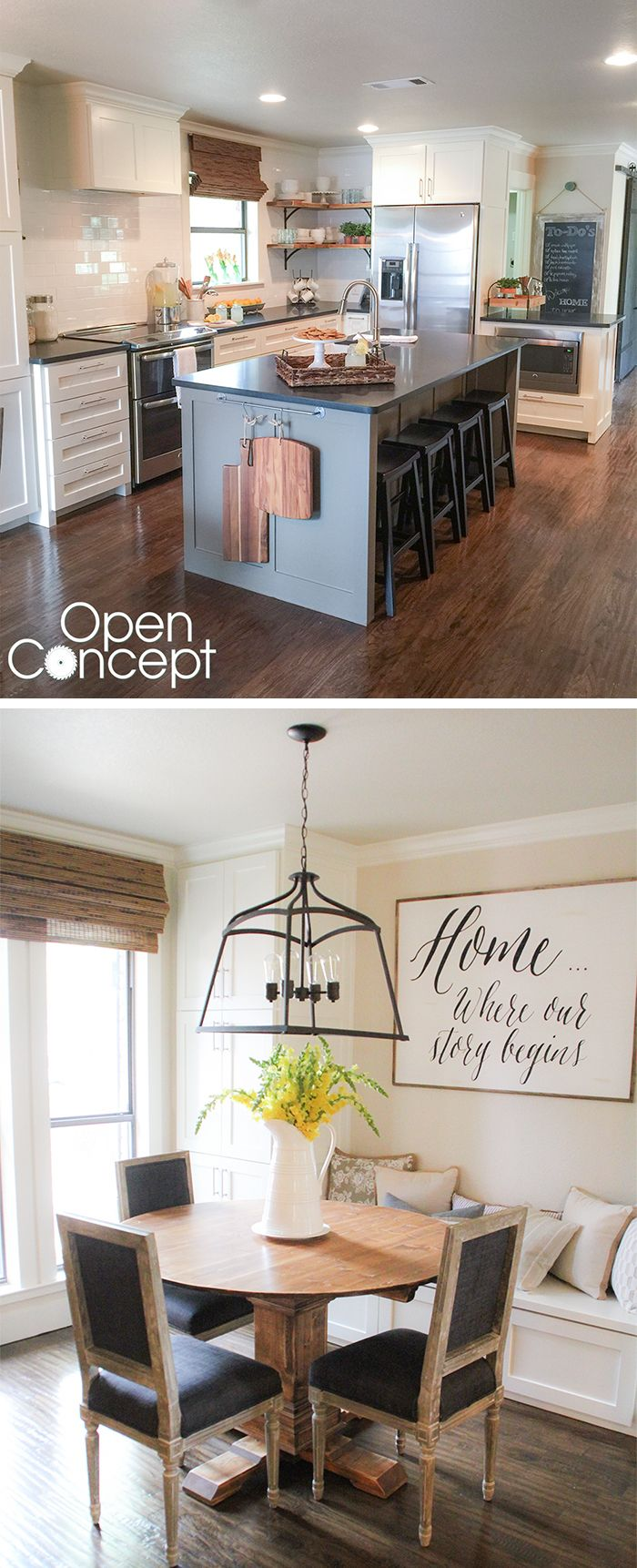 best 10 kitchen layout diy ideas on pinterest little kitchen after shots of the kitchen makeover in hgtv s open concept lot s of before and after pictures of this makeover love the whole house