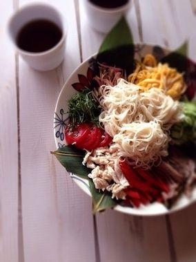 素麺ランチ。|レシピブログ