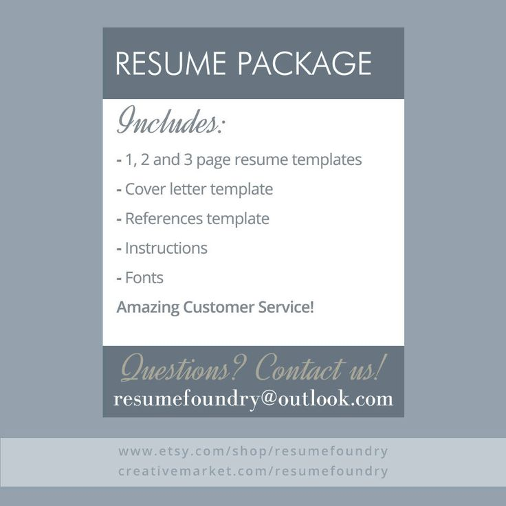 Welcome to the Resume Foundry, we are here to help you invest in the most important document you will every create! Our professionally designed templates are easily customizable, you can update the colors, fonts, headings and layout to create a piece that's uniquely your own. No advanced design skills are necessary. WE ARE HERE FOR YOU AT EVERY STEP, CONTACT US VIA ETSY OR ResumeFoundry@outlook.com ______________________________________________________________ INCLUDES • Resume template in...