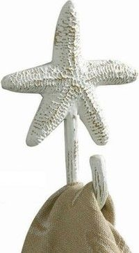 Tropical Nautical Starfish Single Wall Towel Hook - tropical - towel bars and hooks - Amazon