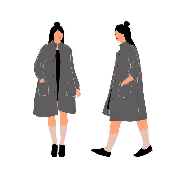Coat design for CO.CO - Yali Ziv