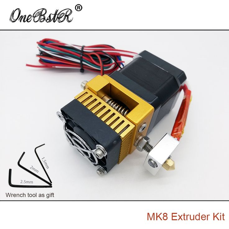 21.82$  Buy here - http://ali5mr.shopchina.info/go.php?t=32795063575 - 2017 New MK8 Extruder Kit Makerbot Prusa i3 Printhead Full Metal Extrusion Head Single Exturder General Wrench Tool As Gift 21.82$ #aliexpressideas