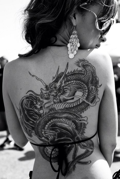 Back Tattoo Dragon                                                                                                                                                                                 More
