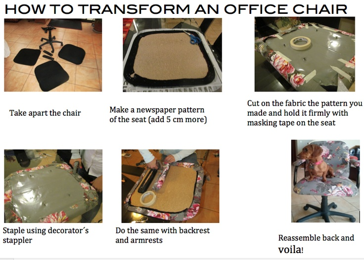 How to change the face of an ugly chair fast and easy