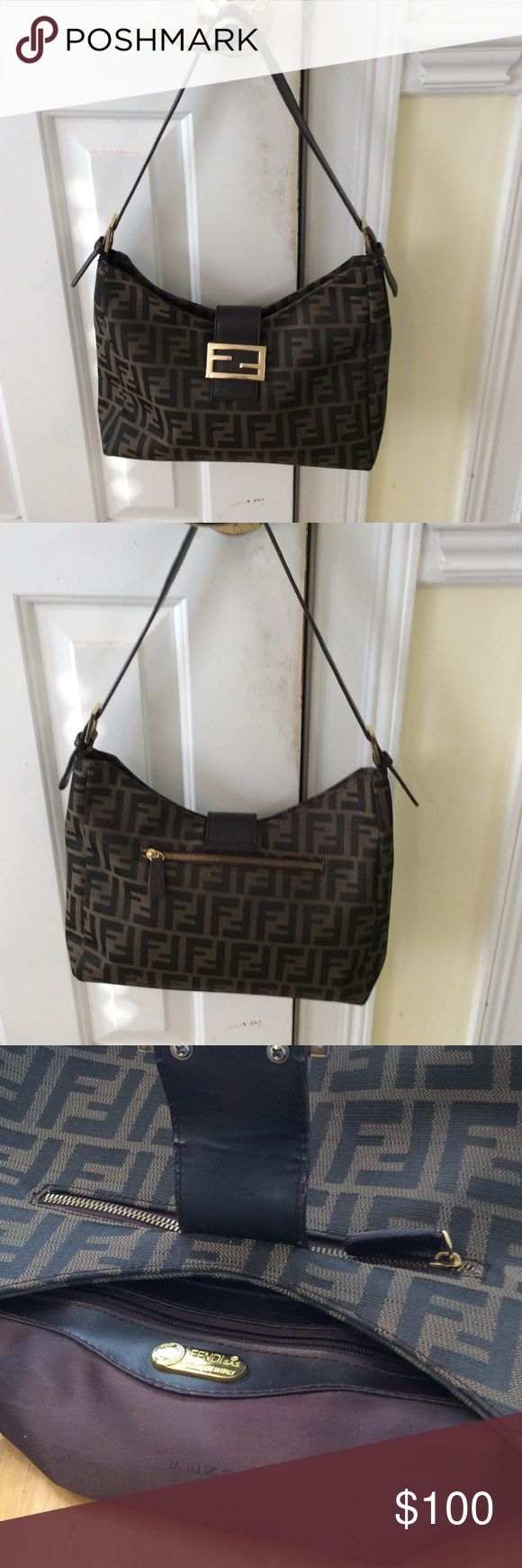 Fendi purse Canvas Hobo Zucca pattern Fendi Bags Hobos
