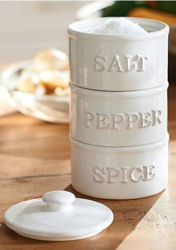 cute white spice tower