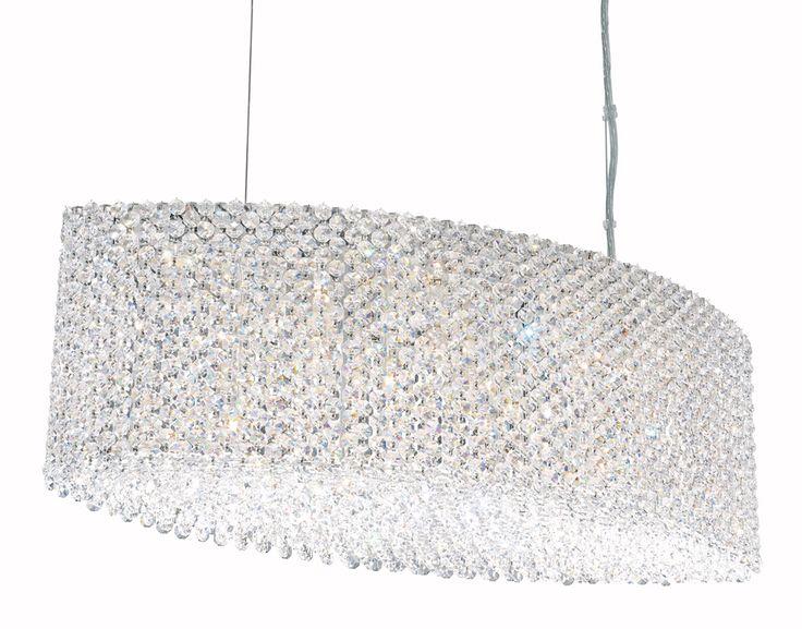 Schonbek Lighting (RE2809) Refrax 8 Light Pendant Lighting shown in Stainless Steel Finish