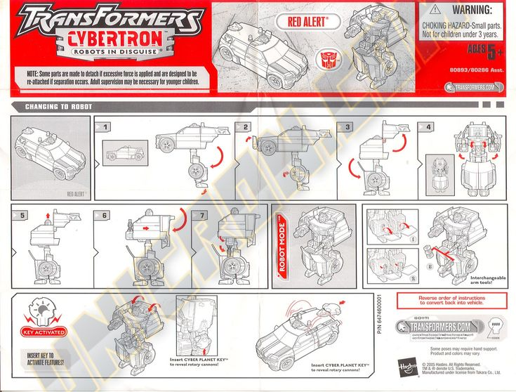 Transformers Cybertron Red Alert - Transformers Instructions Database