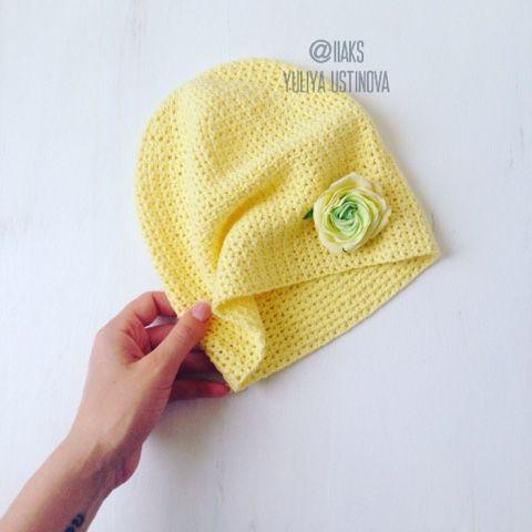 Hand Made: Летняя шапочка крючком для девочки. Описание. Фото мастер-класс.