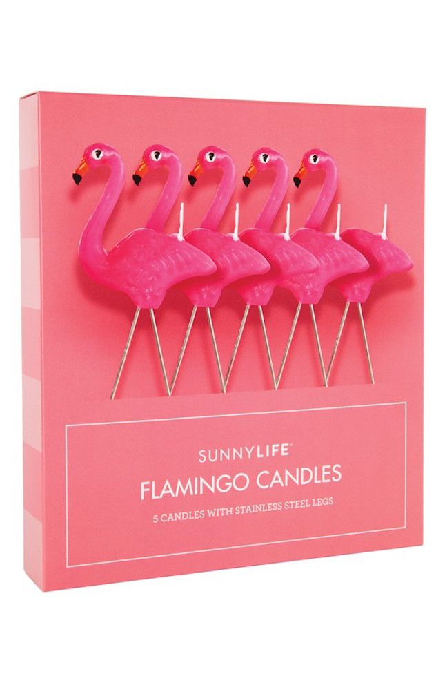 OBSESSED with these flamingo candles.