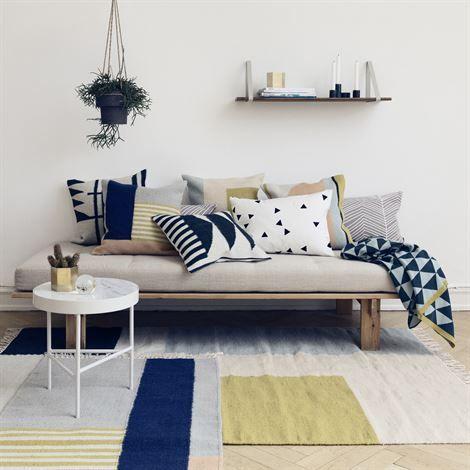 Kelim tapijt small - witte lijnen - Ferm Living