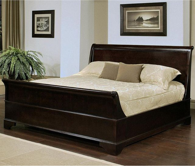 Queen Size Bed From Abbyson Living Kingston Espresso Sleigh. Decor Your  Bedroom With Queen Size Bed