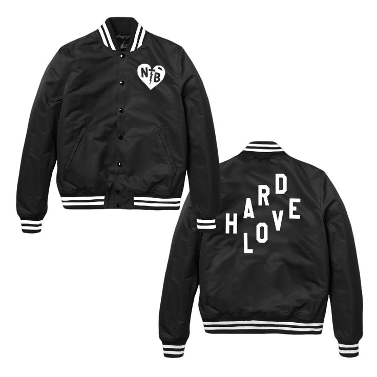 The NEEDTOBREATHE Patched Heart Satin Jacket is available online at the official NEEDTOBREATHE webstore.