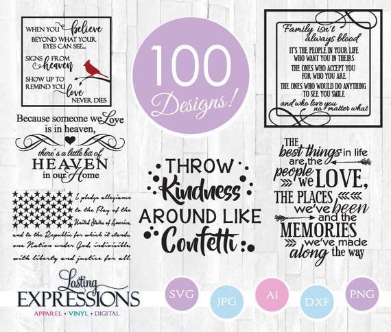 Svg Design Quote Bundle 100 Svg Files For Cricut Craft Quote Etsy Craft Quotes Sign Stencils Digital Graphic Design
