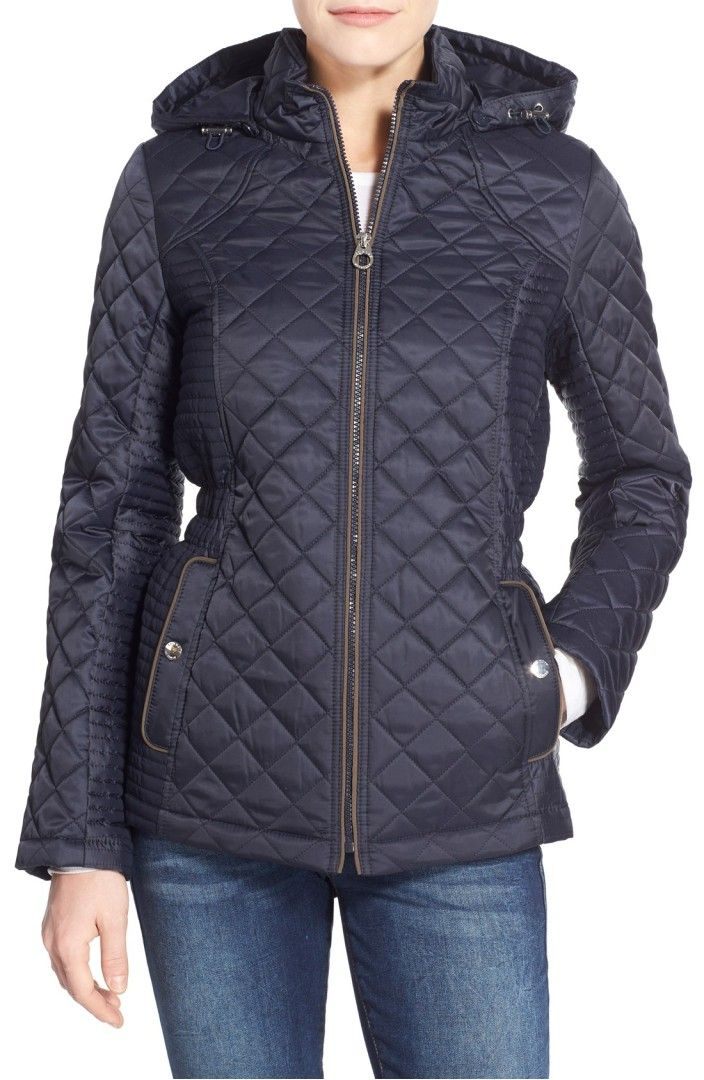 Laundry By Design Quilted Jacket With Detachable Hood Zhenskie