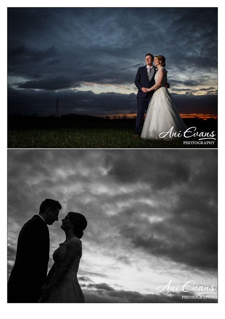 Shustoke Barns Wedding sunset