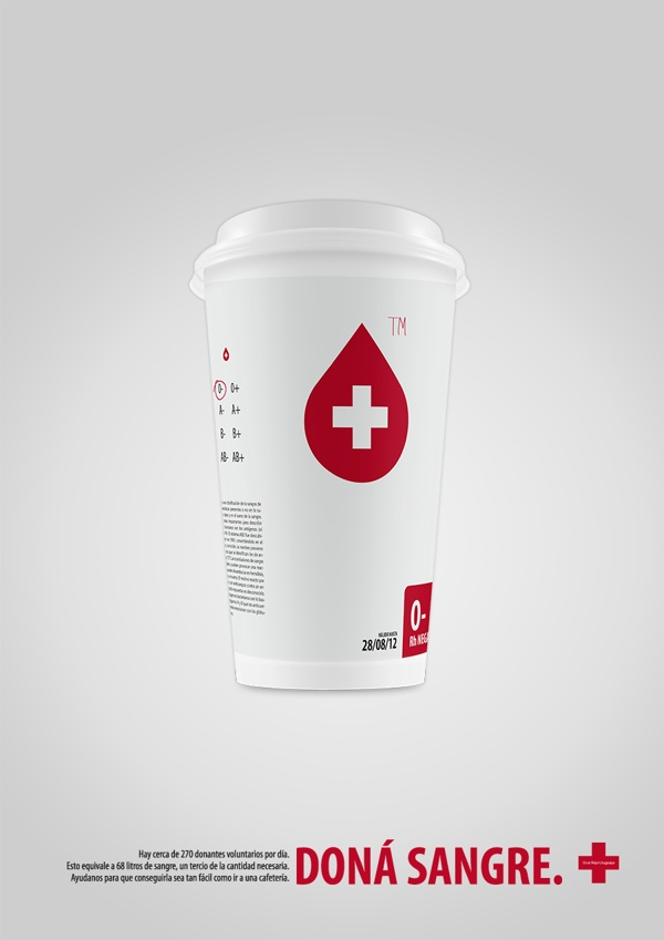 Blood Donation Campaign by María Villamil, via Behance