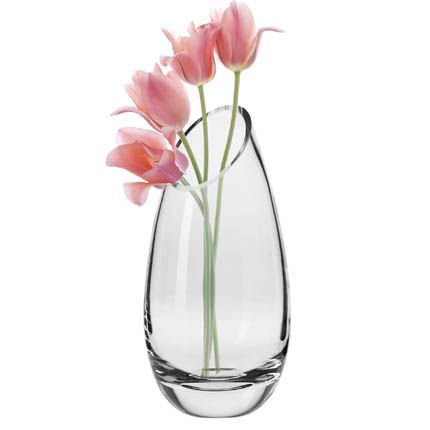 KROSNO Annika Slant Vase, Handmade, 14-inch high.  So pretty.  And not your everyday vase shape.  So, yes.