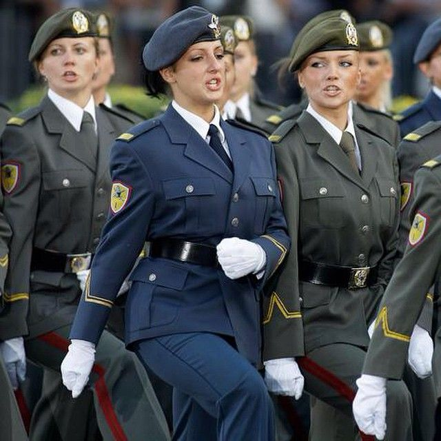 Woman in Serbian Army
