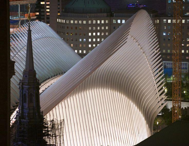 World Trade Center Transportation Hub (and Oculus), Architect Santiago Calatrava.  NYC, NY