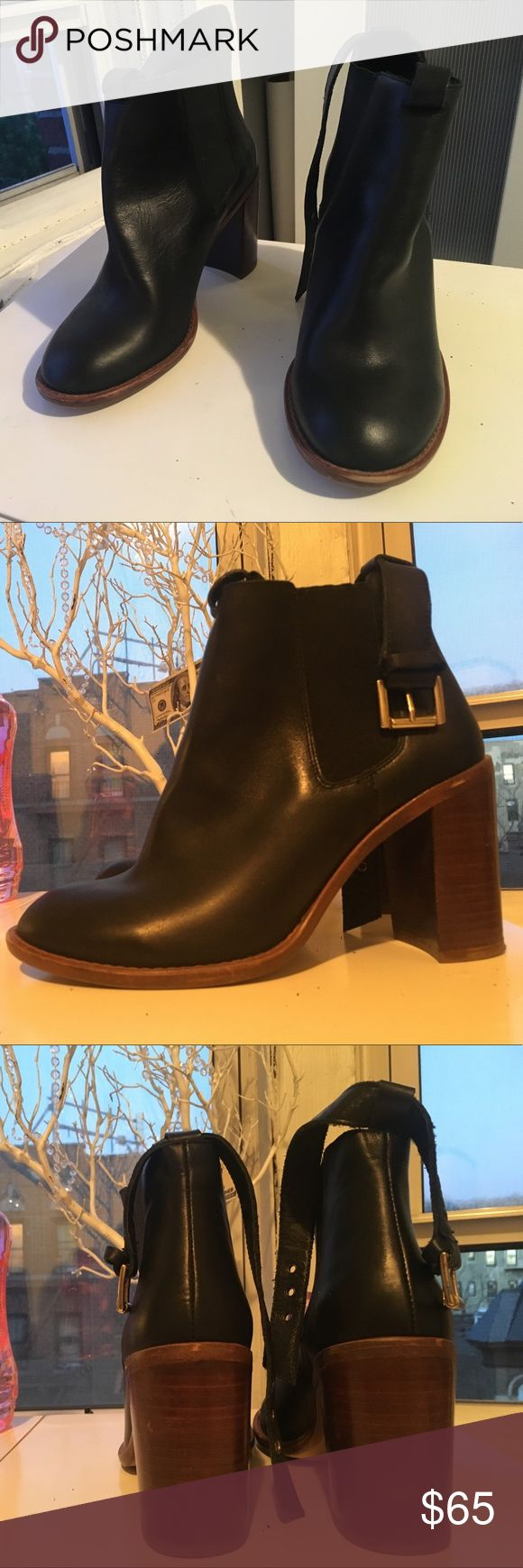 """Black Ankle Boots Used but in good condition. They are comfortable and very fashionable. Brand is """"Kg Kurt Geiger Ankle Boot"""". Shoes Ankle Boots & Booties"""