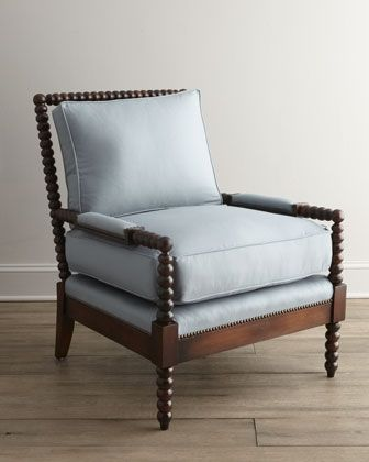 """Ellsworth"" Spindle-Back Chair by Old Hickory Tannery at Horchow."