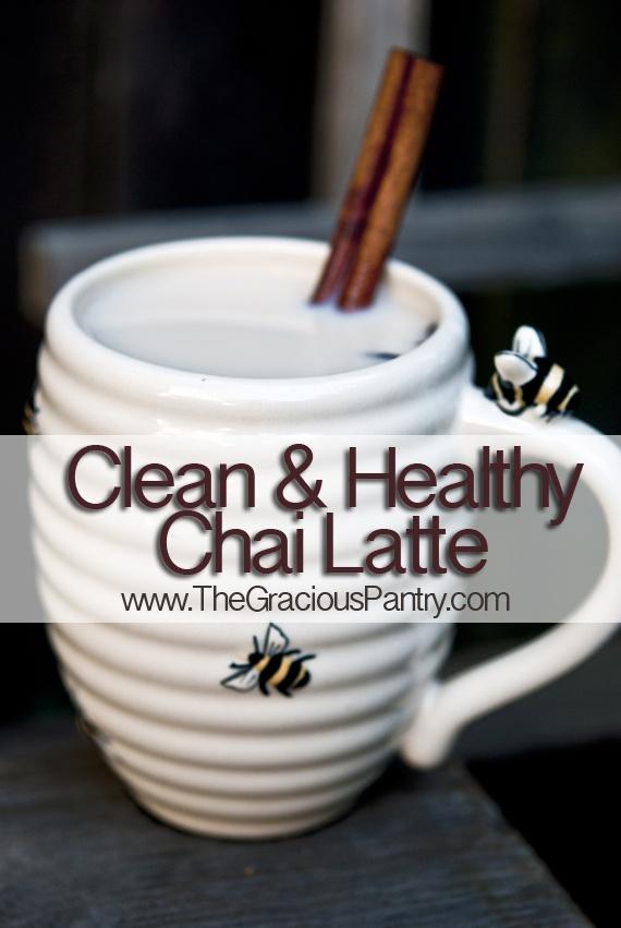 healthy chai latte