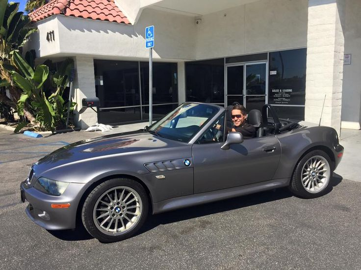 Mr. Bowman in his 2001 Pre-Owned BMW Z3 Convertible! Client Advisor Tyler McGreevy.