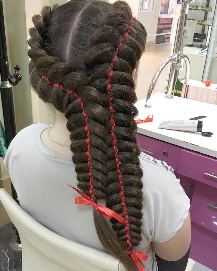 """Опять который раз на этот замечательный праздник """"выпускной""""льёт дождь��,но не смотря на это мы плетём и крутим вам красоту��Шикарный волос,шикарные косы����для выпускницы 4 класса) #укладка #прическа #вечерняяприческа #свадебнаяприческа #студиязефир #укладка #локоны #волосы #прическавладивосток #hair #hairstyle #hairstylist #ponytail #messy #wedding #weddinghair #bride #bridalhairstyle #braids #vl #vladivostok #зефир#updo #vladmama #плетение #косы #braids#невеста #невеставладивосток…"""