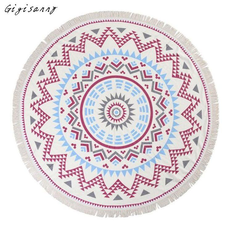 >> Click to Buy << Bohemian Style Beach Throw Fashion Round Hippie Tapestry Beach Throw Roundie Mandala Towel Women Hot Selling,Jan 9 #Affiliate