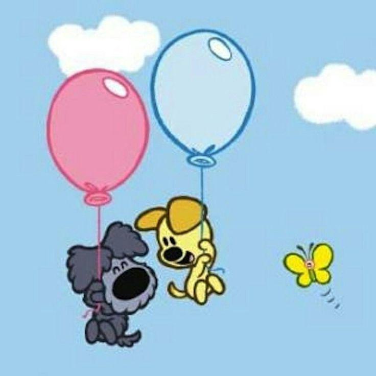 Woezel en pip aan ballon