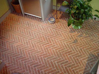 Lancaster Running Bond Inglenook Brick Tiles Thin Flooring Pavers Ceramic