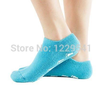 Новые 2014 фут носки! 2 шт. = 1 пара спа-педикюр носки синий цвет гель для ног за кожей бесплатная доставка