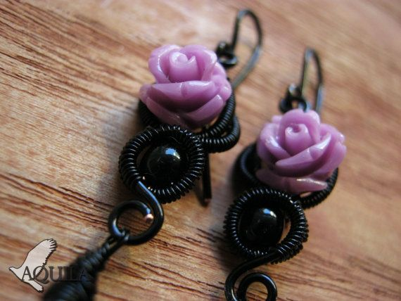 20 % off gothic jewelry gothic earring pastel by HouseofAquila