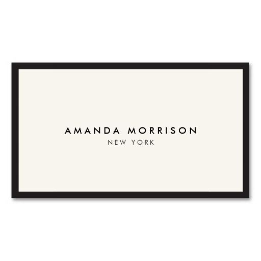 Elegant and Refined Luxury Boutique Black/Ivory Double-Sided Standard Business Cards (Pack Of 100)