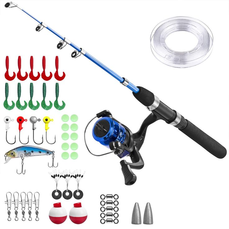 Kids Fishing Pole,Light and Portable Telescopic Fishing rod for Youth Fishing by PLUSINNO. Kids will enjoy hours of angling fun with this PLUSINNO Kids Fishing Kit. It comes complete with a telescopic fishing rod,spincast reel, line and fishing tackle.necessary fishing gear provided by plusinno. A child's first fishing trip is exciting for both parent and child. A suitable fishing pole for kids is very important.here is suitable size fishing pole for your kids. Introduce your child to the...