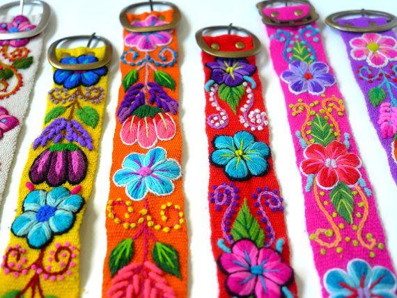 Geborduurde riem  Riemen Peruaanse  Riemen hand door PeruvianBelts, $26.99