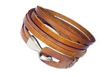 gladiator leather cuff - tan