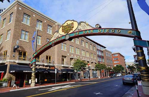San Diego's Gaslamp Quarter, great places to eat here!