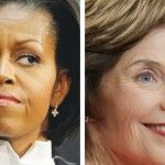 Laura Bush disagrees with Obama: Says NO his wife shouldn't get BIG paycheck from taxpayers April 20, 2015 by Michael Dorstewitz   ||| Just look at the difference in attitude: the forever money grubbing thief and a REAL FLOTUS.