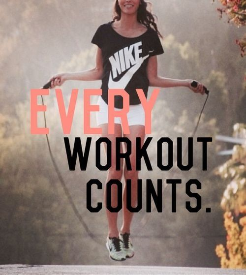 Every workout counts.