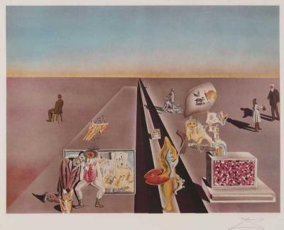 """Salvador Dali (1904-1989) """"Les premiers jours du Printemps"""""""