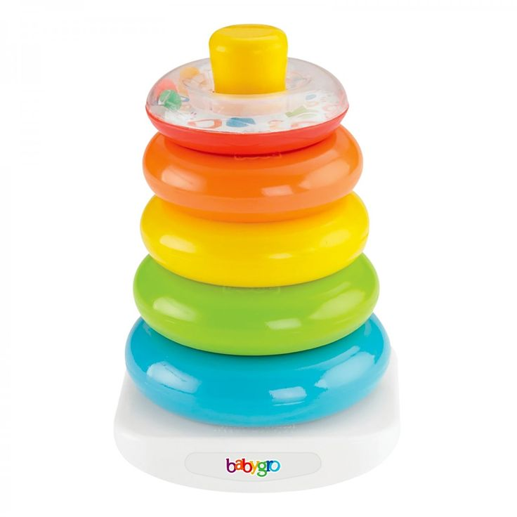 A classic with so many ways for baby to play! Colourful rings are fun for baby to grasp, hold, shake and explore. Stacking helps baby develop hand-eye co-ordination, and introduces them to the concept of relative size as they learn to sort and stack from biggest to smallest!  #Babygro #Baby #Toy #Play #Fun http://www.game.co.za/babygro-5-x-stacking-rings.html