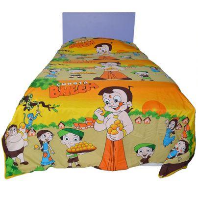 #CHOTA #BHEEM #KIDS SINGLE BED REVERSIBLE #BLANKET #QUILT #DOHAR