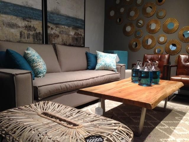 Toronto Showroom 2016 - Colony Coffee Table, Caloy Bench, Paxton Rug